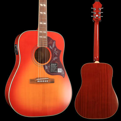Epiphone EEHBFCNH1 Hummingbird Pro Acoustic Electric, Faded Cherry, Nickel Hardware S/N 19022307194 for sale