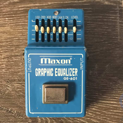 Maxon GE-601, Graphic Equalizer, Made In Japan, 1981, Vintage Guitar Effect Pedal for sale