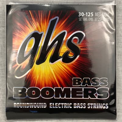 "GHS 6 String Bass Strings 30-125 Med-Light 6ML-DYB 37.25"" wind"
