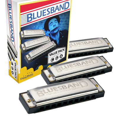 Hohner 3P1501BX Bluesband 3-Pack - Keys of G, A, and C