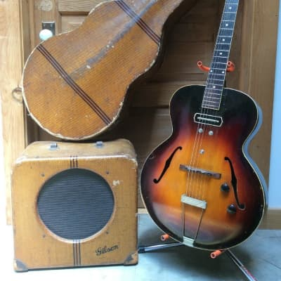 GIBSON ES-150 electric guitar Charlie Christian model w/ LH-150 amp AND case 1936 for sale