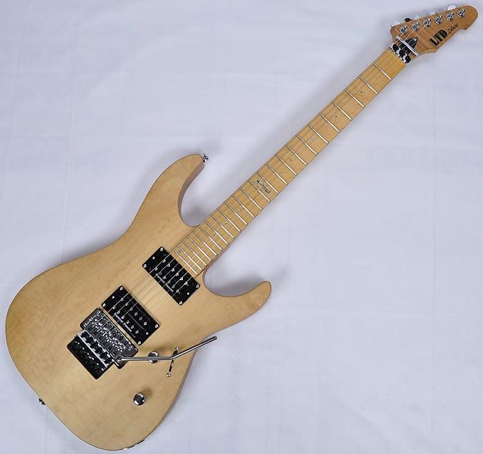 esp ltd deluxe m 1000se electric guitar in vintage natural reverb. Black Bedroom Furniture Sets. Home Design Ideas