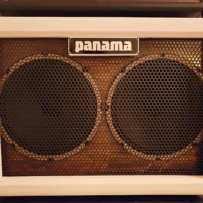 Panama Guitars 2x10 Guitar Cabinet Open Back 2010s White for sale