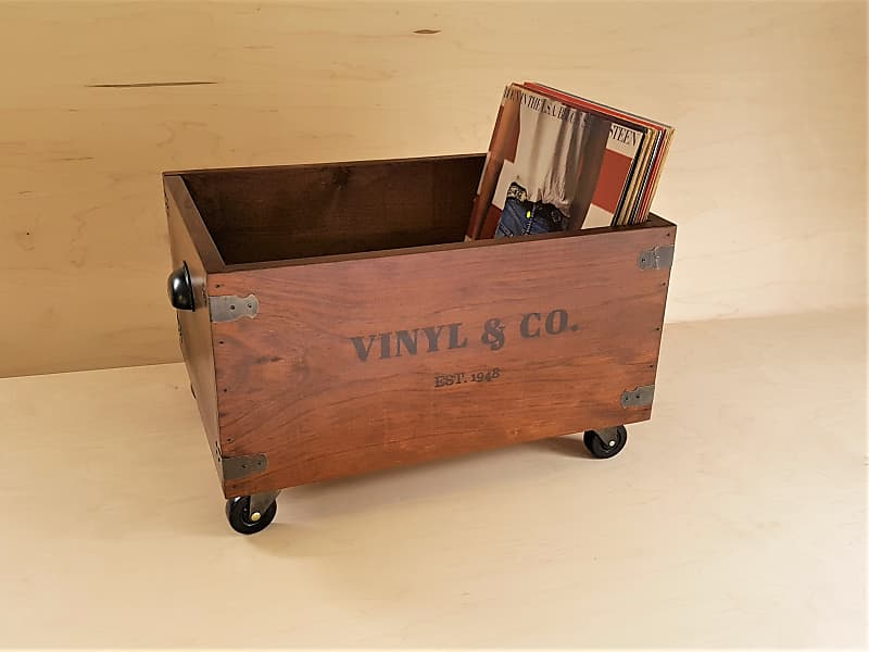 Lp Vinyl Record Storage Crates Boxes Octave Woodworks Reverb
