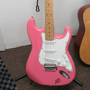 2008 Indiana Double Cutaway Electric Guitar ICE-1  Pink Autographed by John Rich+ FREE SHIPPING for sale