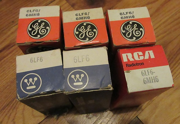 Lot of 6 Vintage 6LF6 / 6MH6 Vacuum Tubes Sylvania, Sears, GE,  Westinghouse, RCA Must See