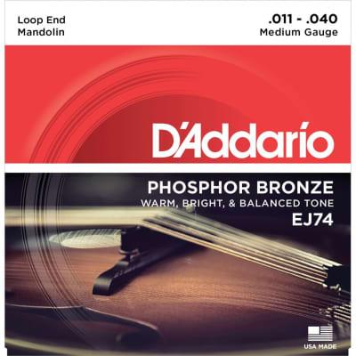 D'Addario EJ74 Mandolin Strings Phosphor Bronze Medium 11-40