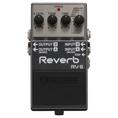 BOSS RV-6 Digital Reverb Guitar Effect Pedal for sale