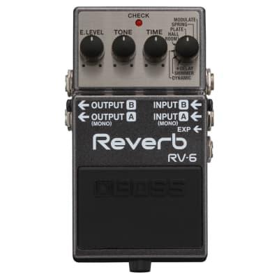 BOSS RV-6 Digital Reverb Guitar Effect Pedal for sale