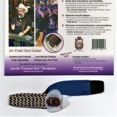 Strum-N-Comfort Danimal (Dan Johnson) Signature Crossover Thumb Pick 2020 for Pedal Steel GuitarBlue