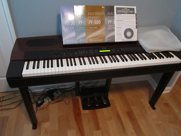 yamaha pf 500 digital professional piano keyboard full 88 reverb. Black Bedroom Furniture Sets. Home Design Ideas