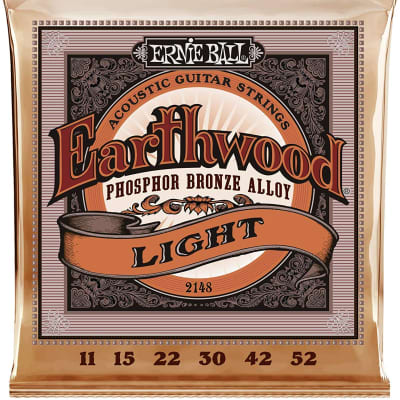 Ernie Ball Earthwood Light Phosphor Bronze Acoustic Guitar Strings - 11-52 Gauge (2148)