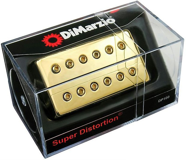 DIMARZIO DP100 Super Distortion Humbucker Pickup GOLD Cover, | Reverb
