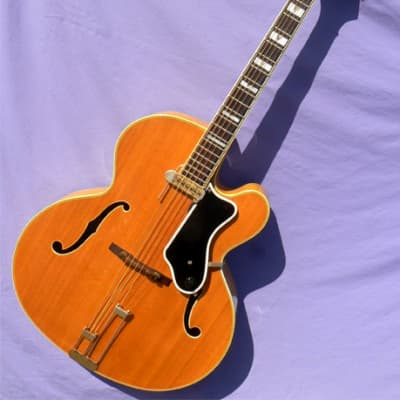 1963 Epiphone Emperor: Ultra-Rare Gibson Built Model With NY Epi Body, Spectacular Flame, 1 of 3 for sale