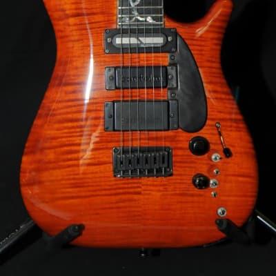 Kim Schwartz KLS Custom Solid Body Transparent Burnt Orange Gloss for sale