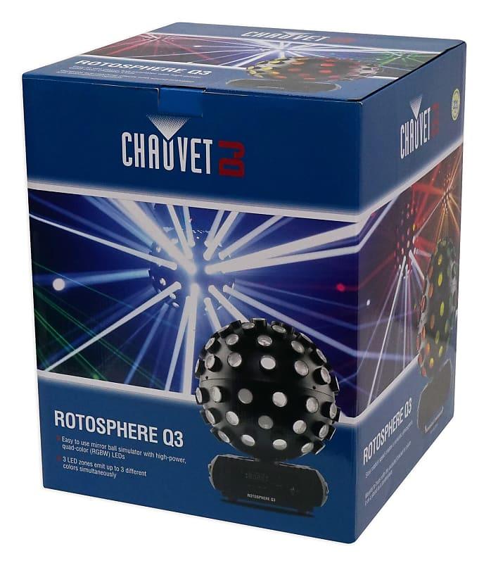 2 Chauvet Dj Rotosphere Q3 Mirror Ball Dance Floor Led