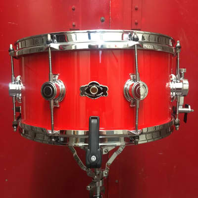 George Way 14x7 Aristocrat Acacia Snare Drum AA714-HR 2020 Hot German Red