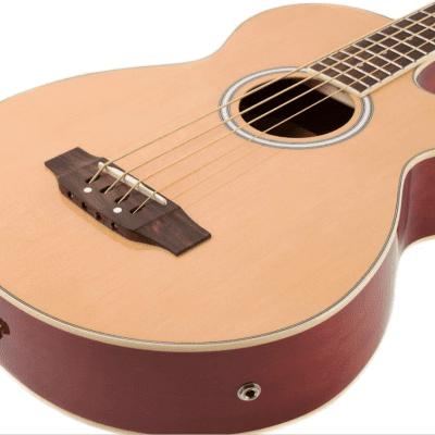 Oscar Schmidt OB100N Venetian Cutaway Spruce Top 4-String Acoustic-Electric Bass Guitar w/Gig Bag for sale