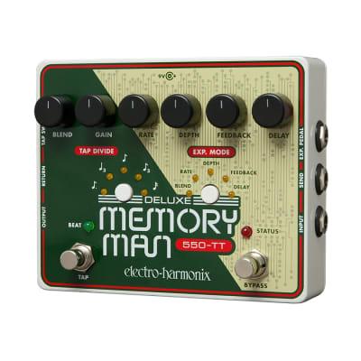 Electro Harmonix Deluxe Memory Man Tap Tempo 550 Analog Delay Pedal