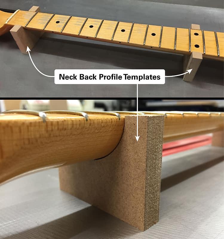 Vintage Fender Stratocaster Guitar Neck Router Templates W Back Profiles 1954 65 CNC 1 2MDF Luthier