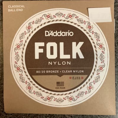 D'Addario Folk Nylon Strings EJ33