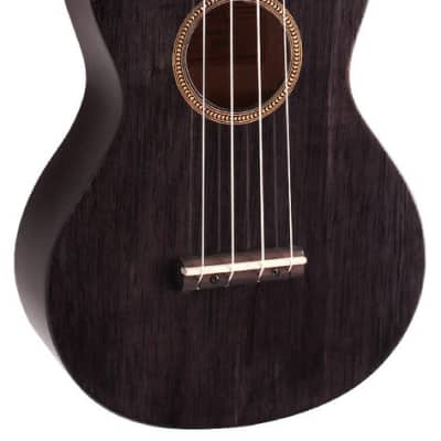 MAHALO Hano Series Concert Ukulele Transparent Black Gloss. for sale