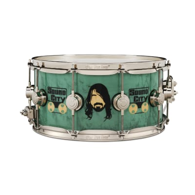 "DW DREX6514SSK-DG Collector's Series 6.5x14"" ""Sound City"" Dave Grohl Signature Icon Snare Drum"