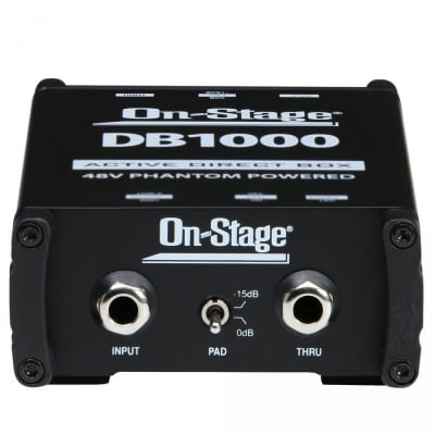 On-Stage DB1000 Active Direct Box - Great for acoustic guitars, bass guitars, keyboards, and more