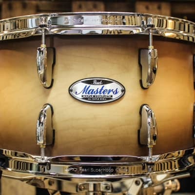 Pearl Masters Maple Complete Satin Natural Burst 13x7 Snare Drum (video demo)