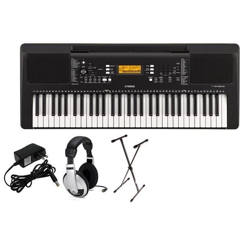 Yamaha Psr E363 Portable Keyboard Premium Pack Sxks Stand Ac Adapter And Samson Headphones