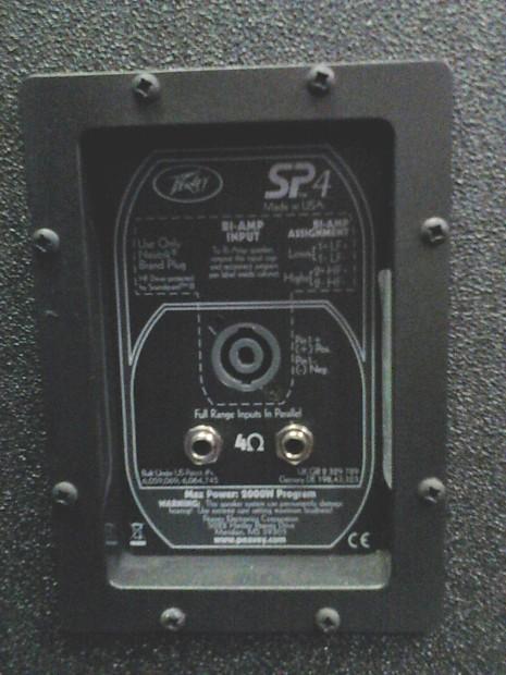 2 Peavey SP4 Black Widow Dual 15in 4000w PA Speakers Reverb