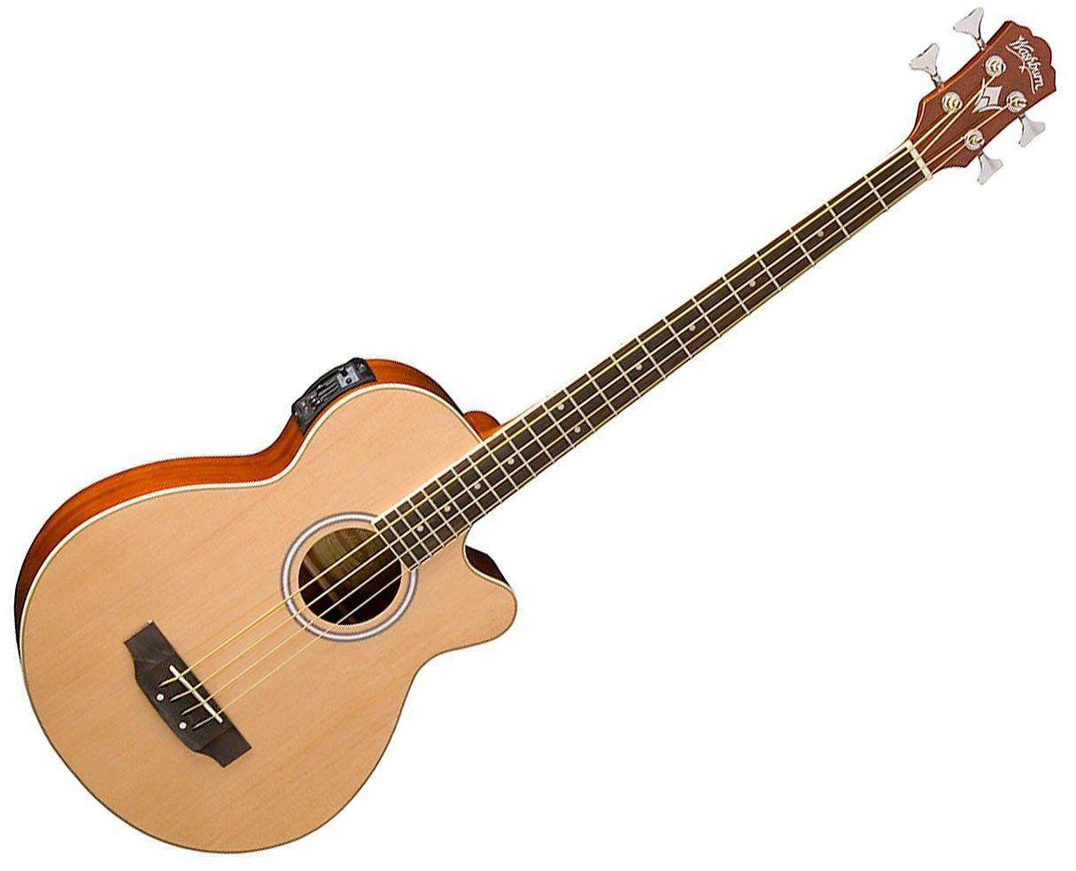 washburn ab5k 4 string acoustic bass natural reverb. Black Bedroom Furniture Sets. Home Design Ideas