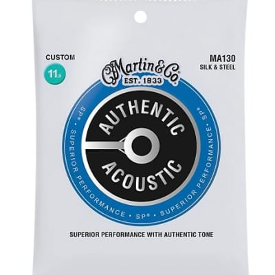 Martin MA130 Authentic Silk & Steel Acoustic Guitar Strings
