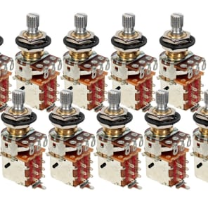 10 Bulk Pack Genuine Bourns 250K Split Shaft Push-Pull Pots for Electric Guitar