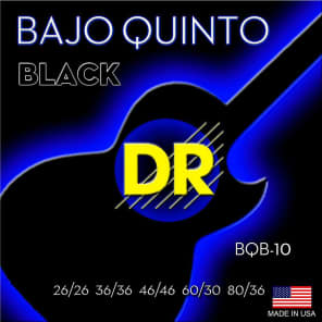 DR BQ-10 Hi-Beam Stainless Steel Bajo Quinto Round Wound Strings
