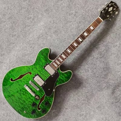 Firefly FF338 Semi-Hollow body Electric Guitar *Mean Green*
