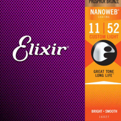 Elixir #16027 - Acoustic Phosphur Bronze Nanoweb 11-52 Custom Light