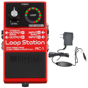 Boss RC-1 Loop Station Bundle w/ Boss PSA-120S2 Power Supply