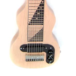 Joe Morrell USA Pro Series 8-String Maple Body Lap Steel Guitar Natural Finish for sale
