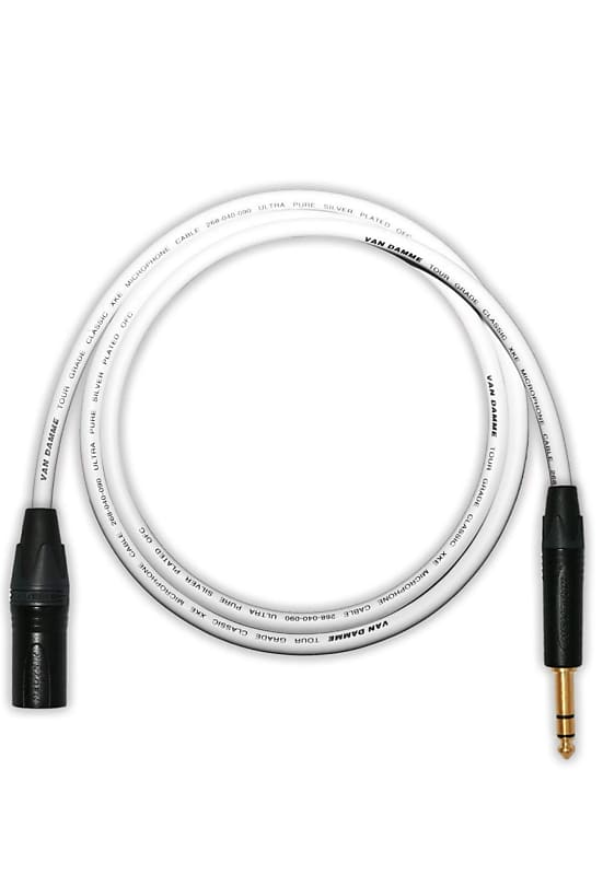 designacable 8m custom length  van damme balanced lead