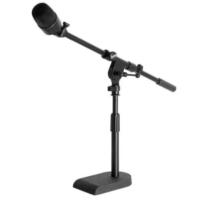 On-Stage MS7920B Bass Drum/Boom Combo Mic Stand, U-Shaped Base- Black