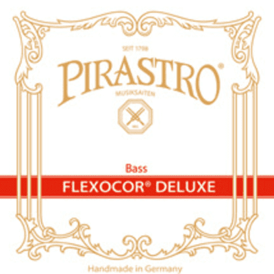 Pirastro Flexocore DeLuxe 3/4 Double Bass Set, Orchestra tuning