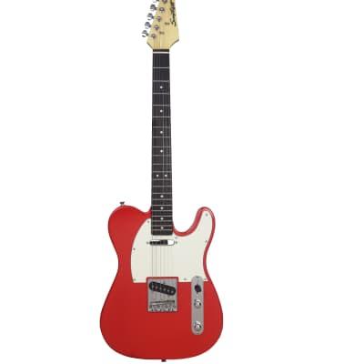 Sawtooth Classic ET 60 Ash Body Electric Guitar, Habanero