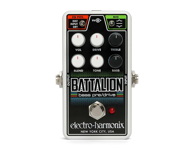 Electro-Harmonix EHX Nano Battalion Bass Preamp / Overdrive Effects Pedal