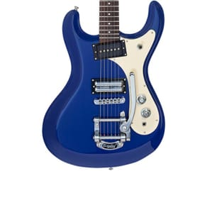 Danelectro Electric Guitar The '64 Reissue Bigsby Double Cutaway Humbucker Blue