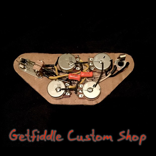 sg wiring capacitor and 50 s 50 s gibson sg wiring diagram gibson epiphone sg 50's wiring harness .015 uf .022 uf ...
