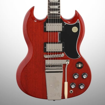 Gibson SG Standard 61 Maestro Vibrola Electric Guitar (with Case), Vintage Cherry