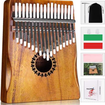 Kalimba 17 Keys Bundle - Full Beginner Kit