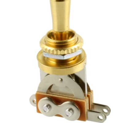 Allparts Gold Short Straight 3-way Toggle Switch EP-0066-002