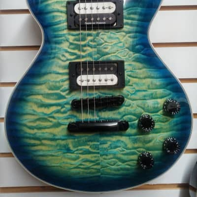 Dean Thoroughbred Select Flame Maple Top in Ocean Burst New for 2020  TB SEL QM OSB